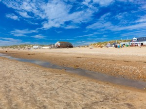 sandy beach at camber sands east sussex
